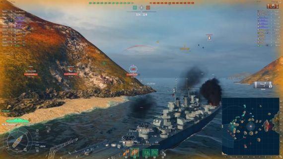геймплей World Of Warships
