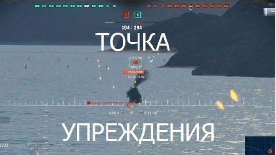 Мод точка упреждения для World of Warships